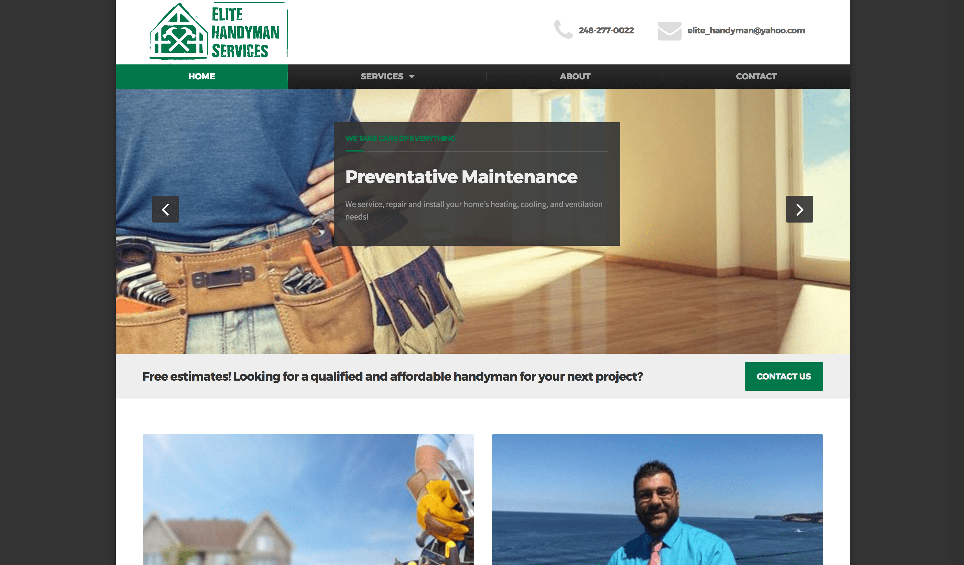 Elite Handyman Services was founded by Adam, a licensed and insured handyman with over 17 years of experience.