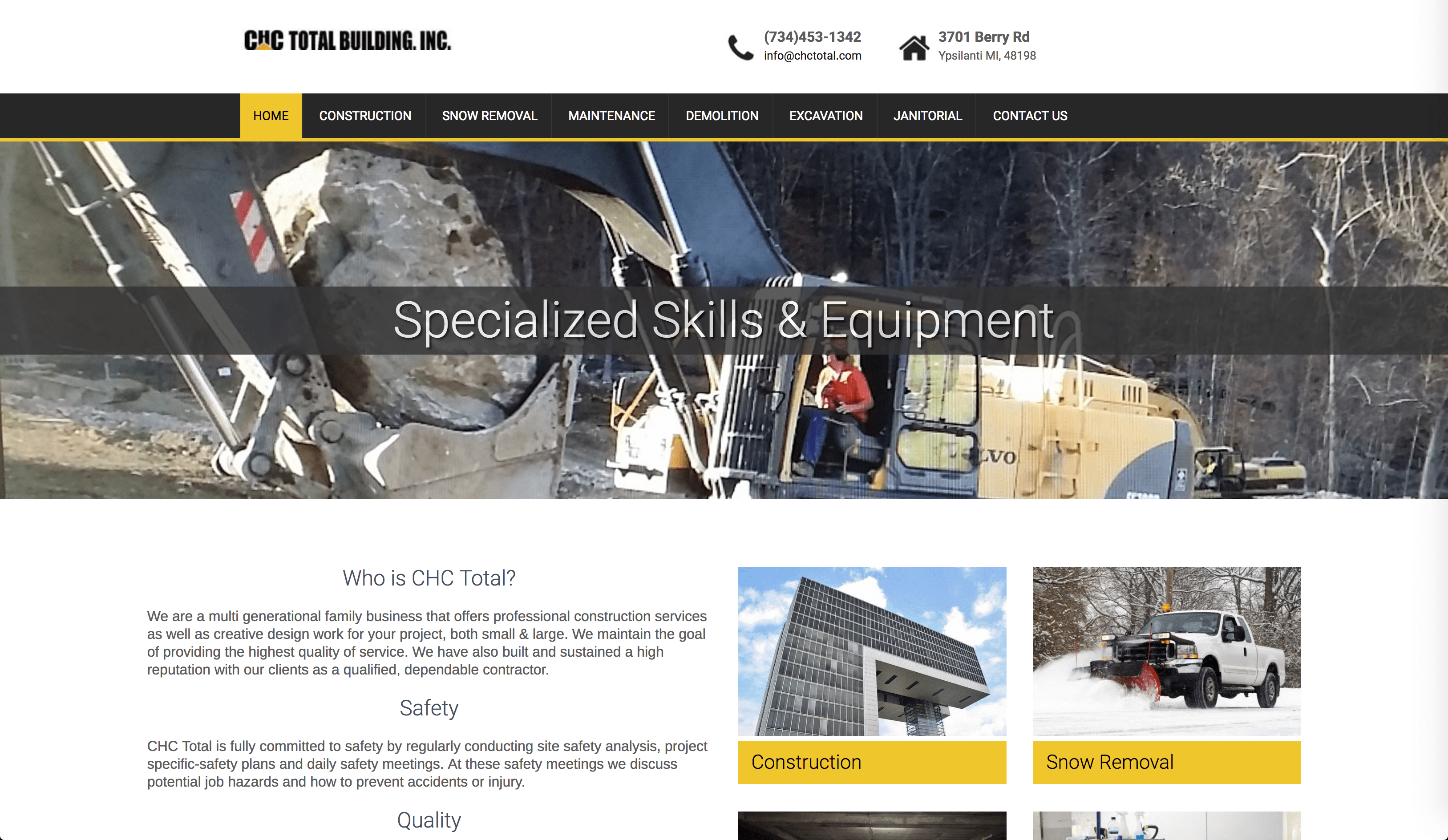 CHC Total construction and snow removal company